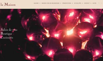 page d'accueil du site La Maison Vougeot