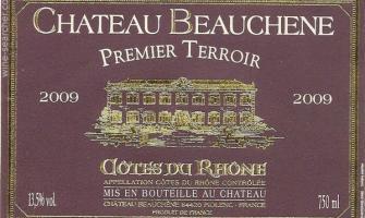 Etiquette de vin château Beauchêne